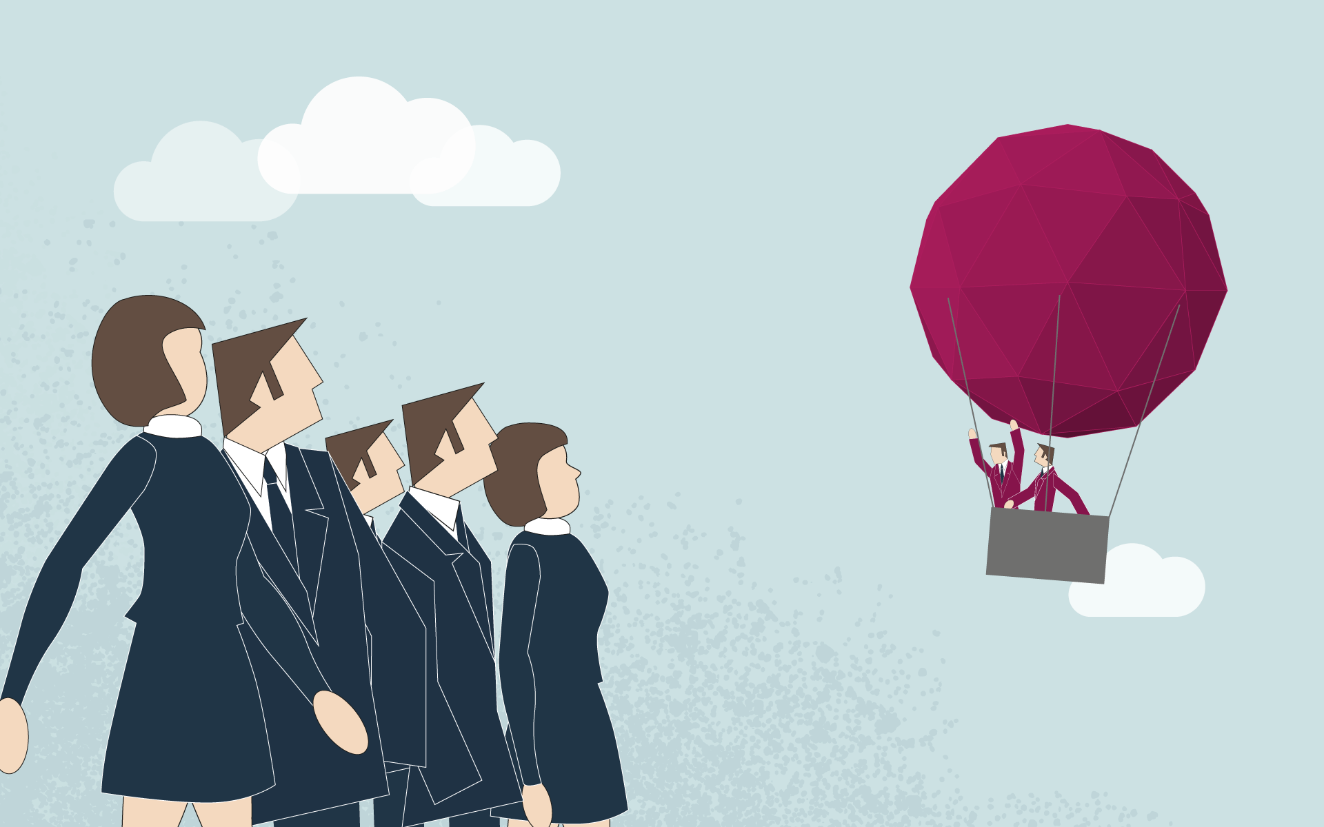 Business Transformation - Ballon is flying away from the competitors