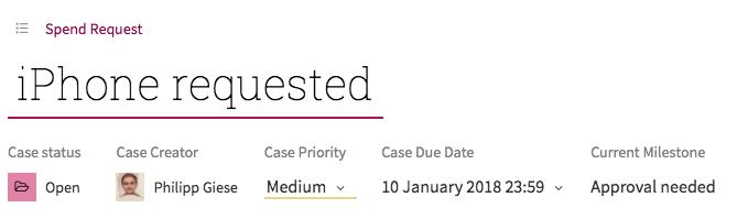 Workflow Accelerator case overview screenshot