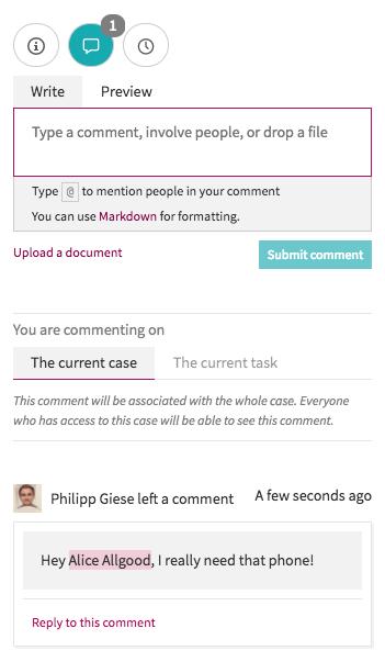 Comment screen screenshot