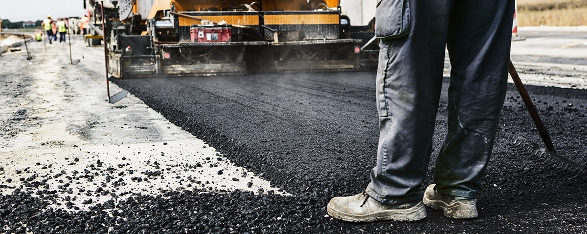 robotic process automation- a worker lays a road