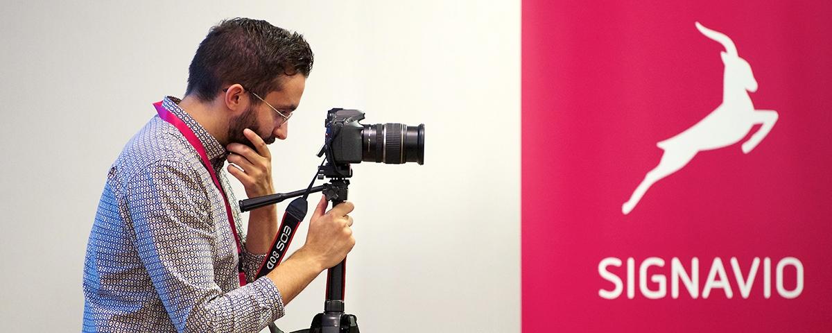 photographer taking photos of Signavio
