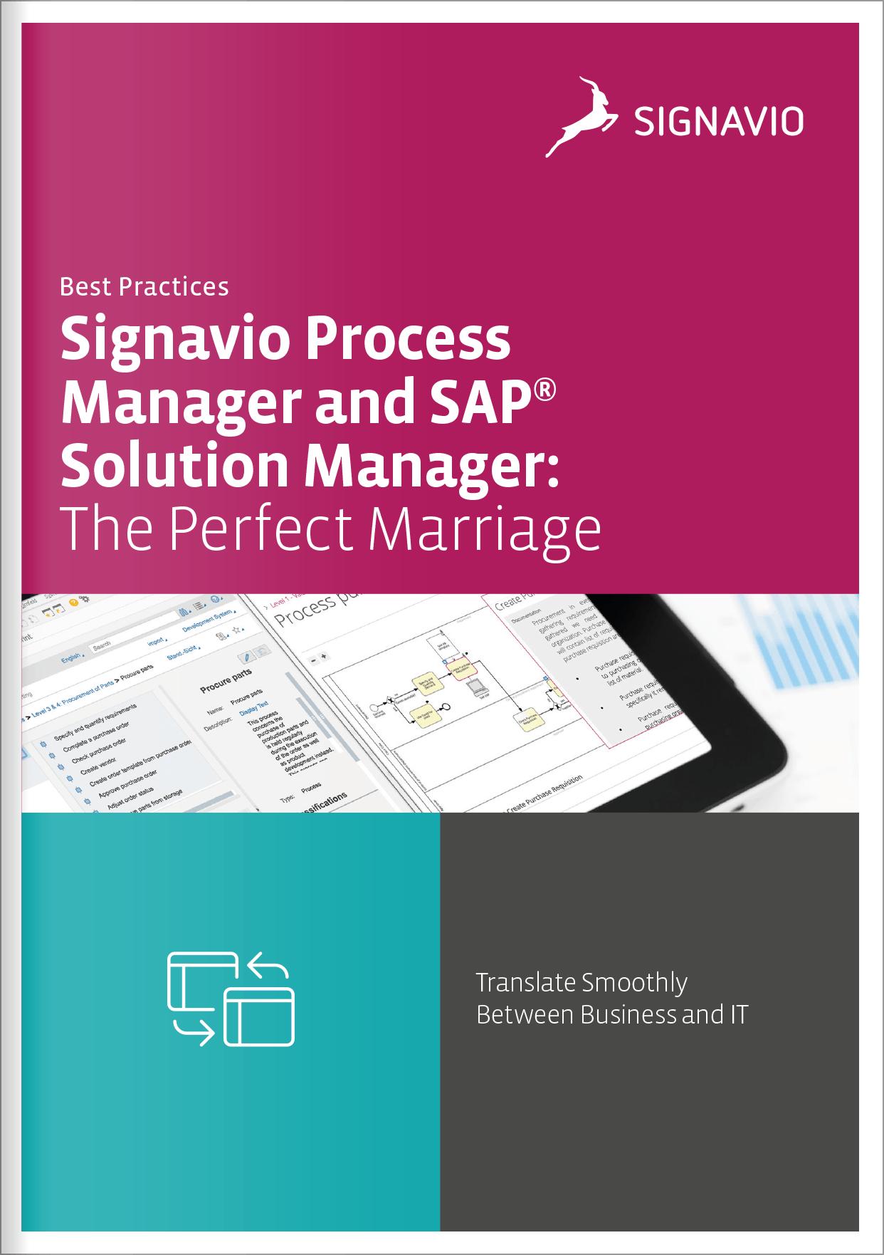 Signavio and SAP integration