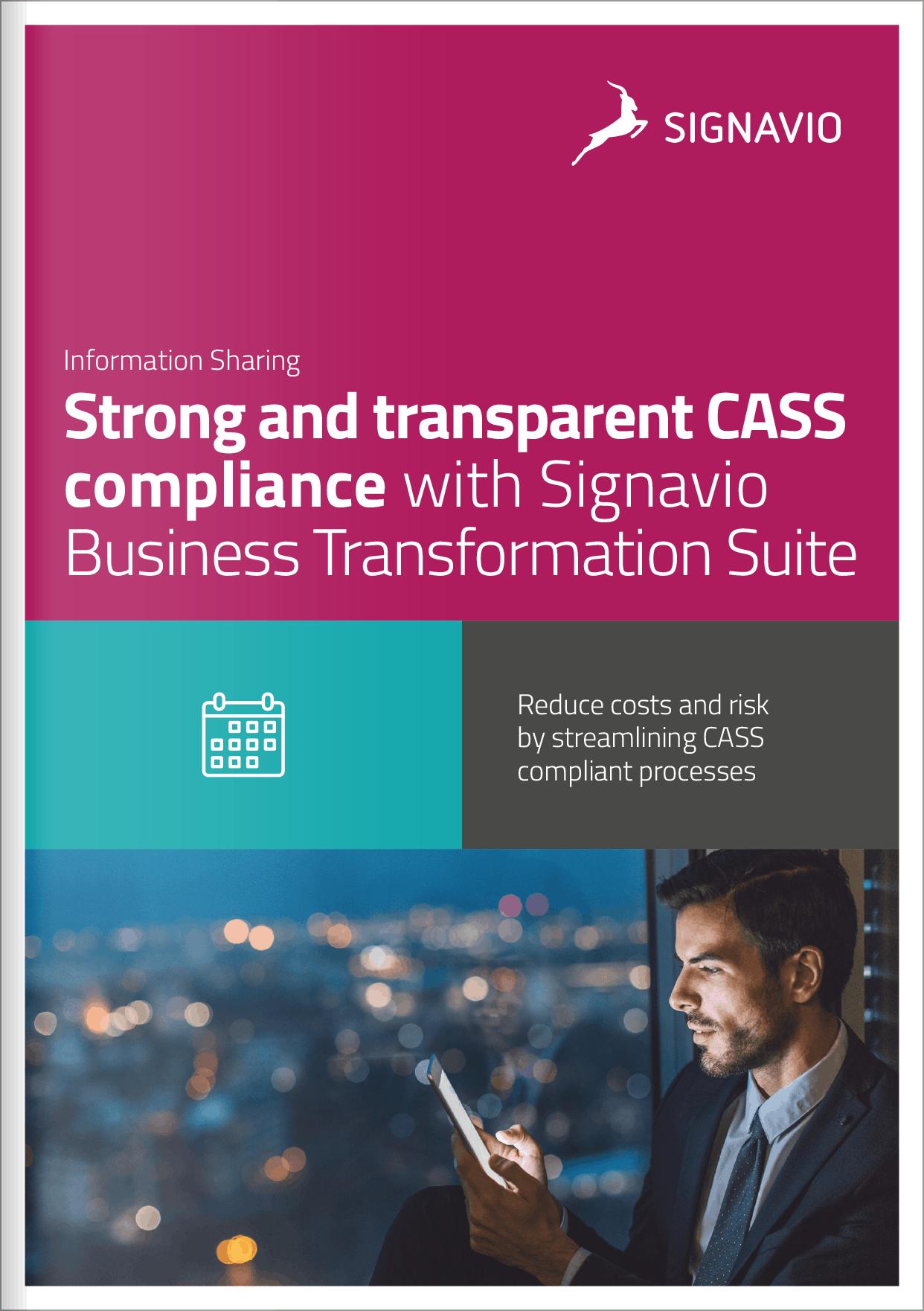 CASS compliance cover