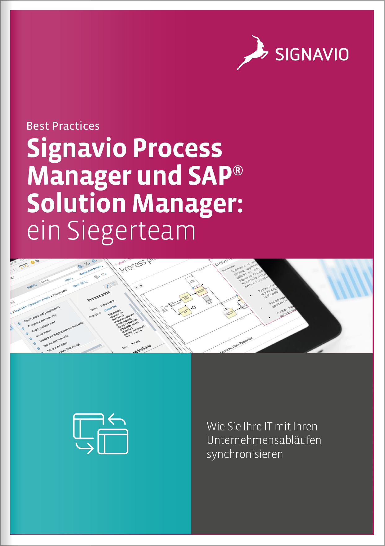 Signavio Process Manager und SAP(R) Solution Manager: ein Siegerteam
