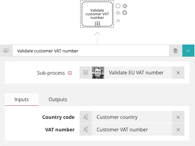 VAT number validation inputs