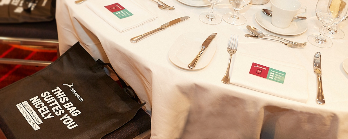 Business Leaders Luncheon - table setting