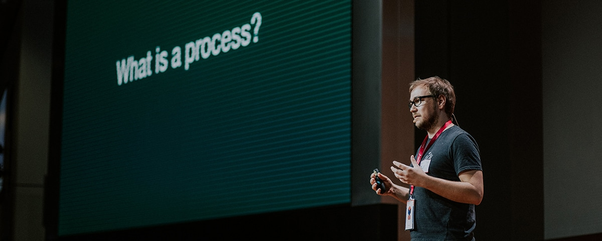Naming business processes presentation on a conference