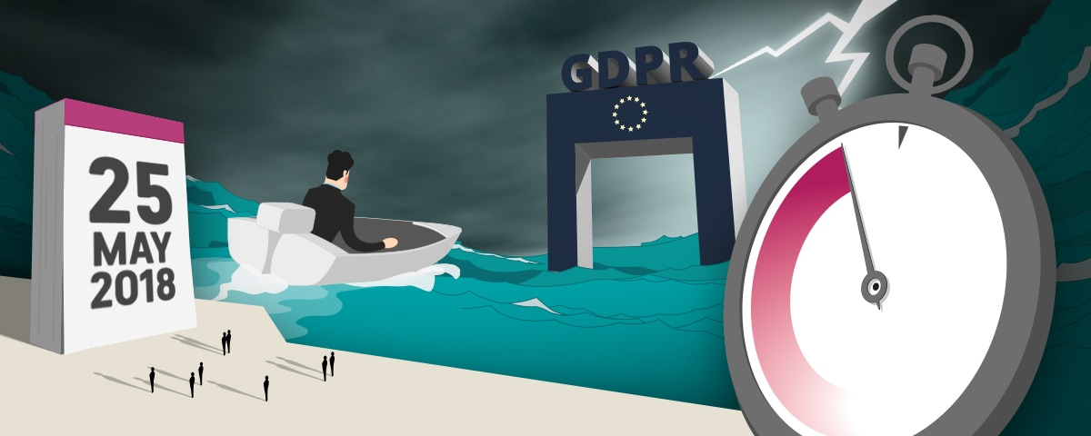 GDPR overview - countdown clock and date