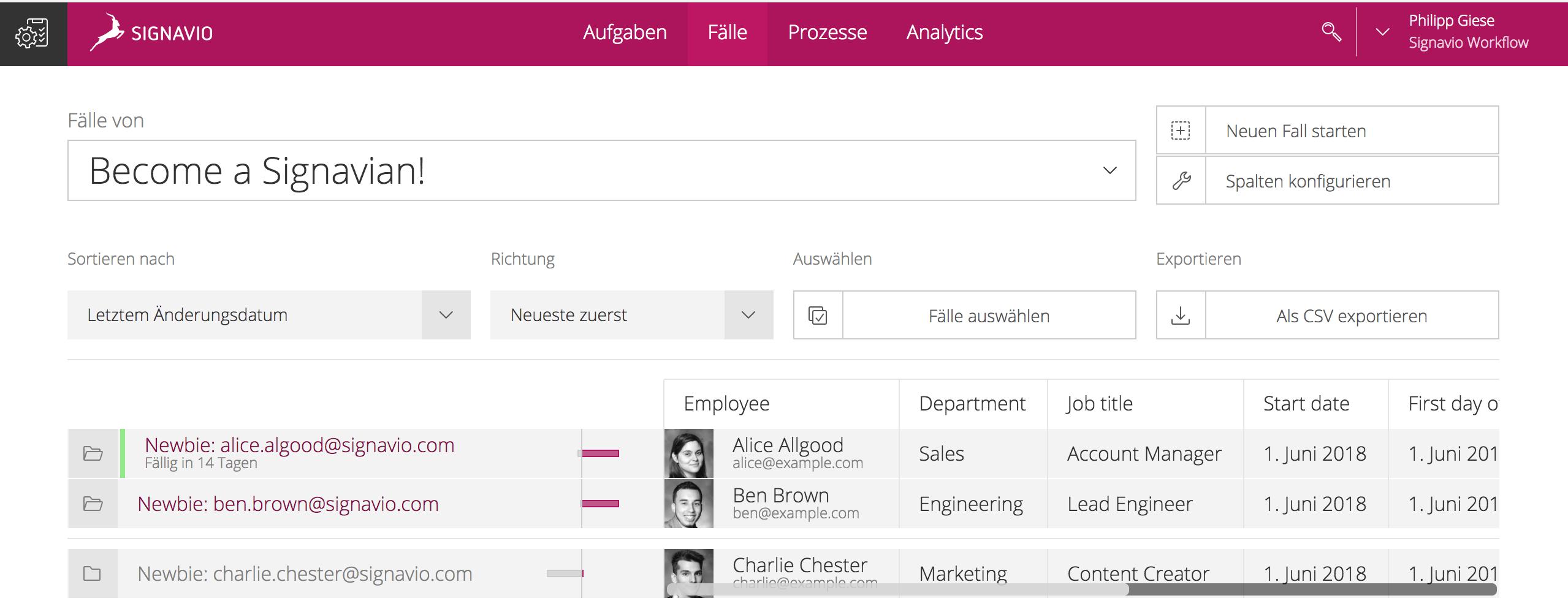 HR-Workflow Signavio