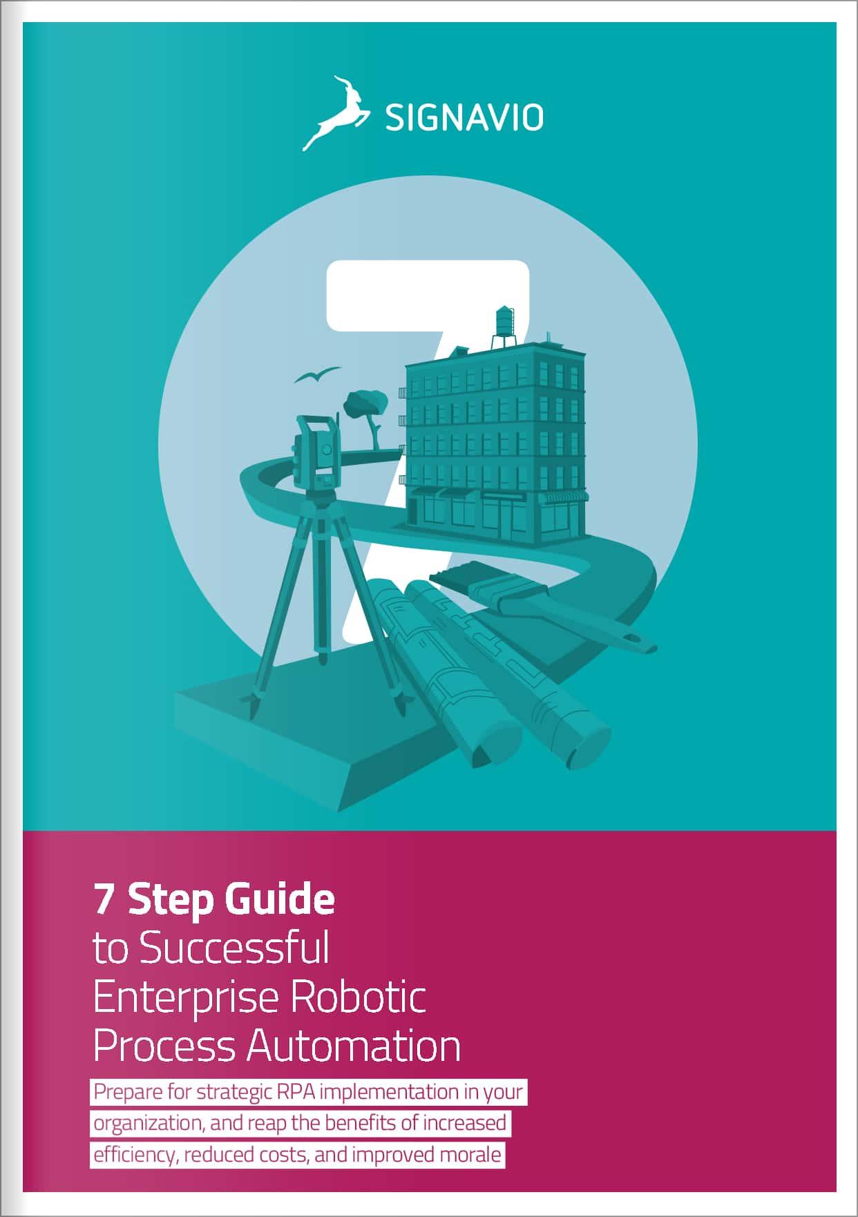 7 steps successful enterprise RPA cover