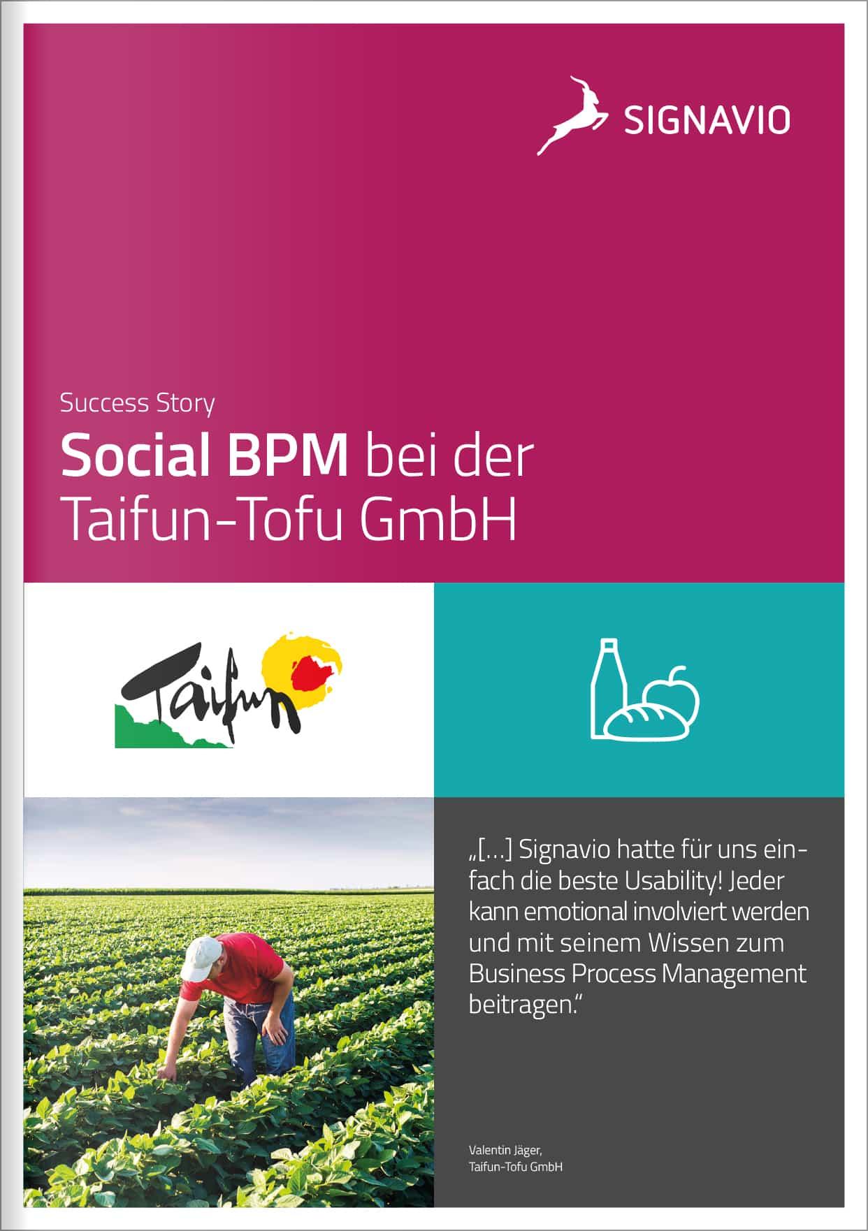 Success Story - Social BPM bei der Taifun-Tofu GmbH