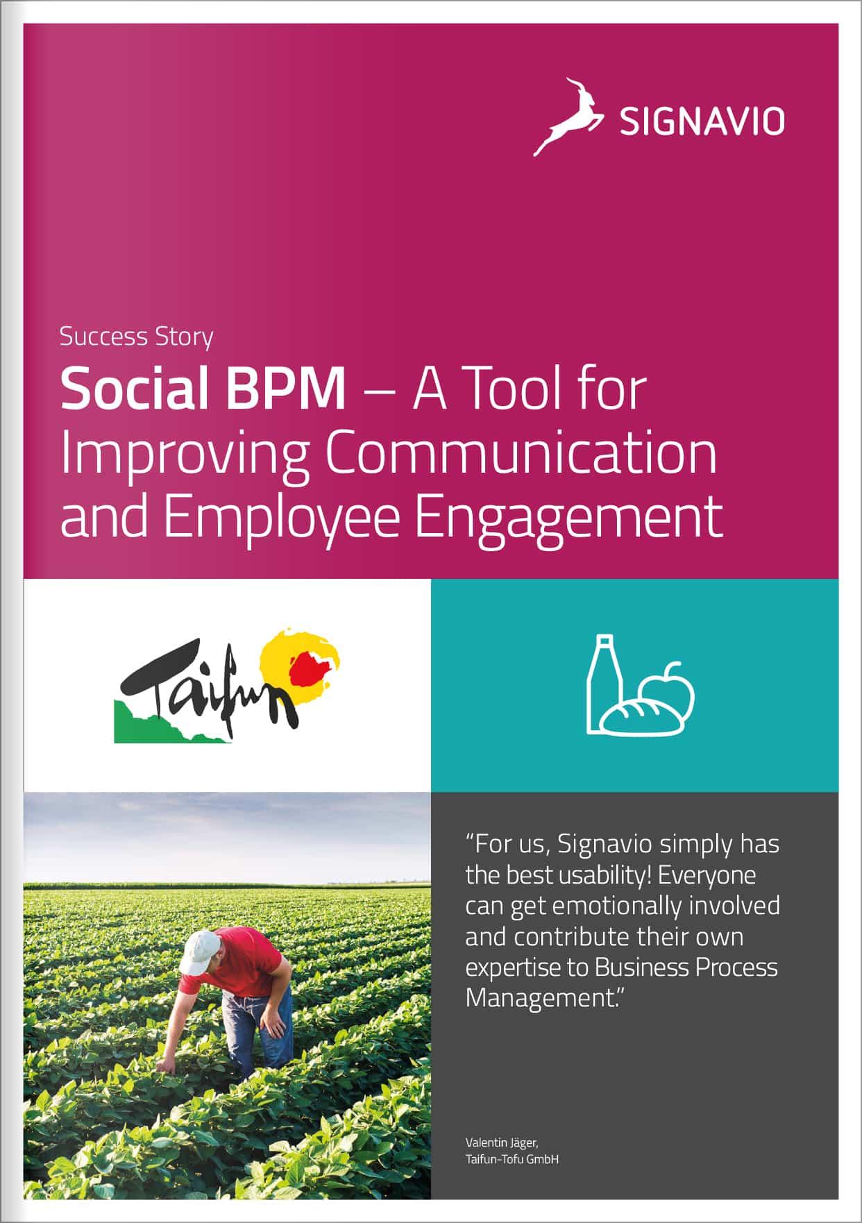 Success Story - Social BPM Taifun-Tofu GmbH