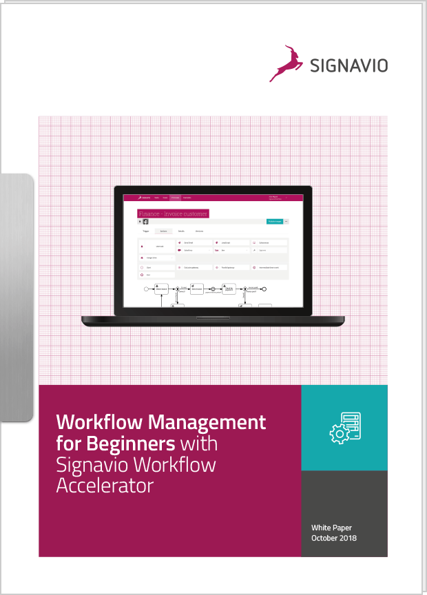 laptop screen showing workflow management tool