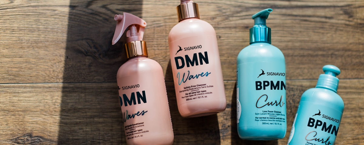 DMN and BPMN Signavio branded shampoo bottles