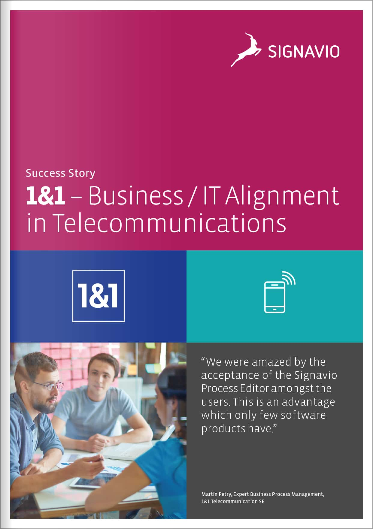 1&1: Effective Business/IT alignment based on BPMN