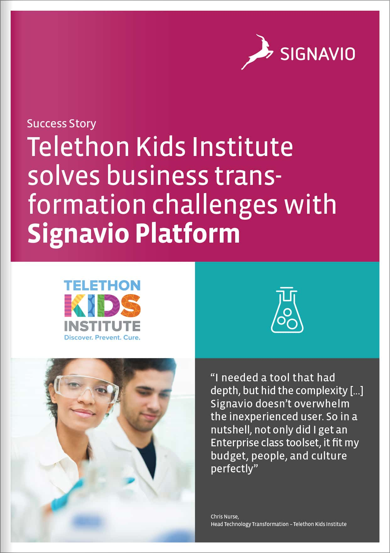 Telethon Kids Institute solves business transformation challenges with Signavio Platform