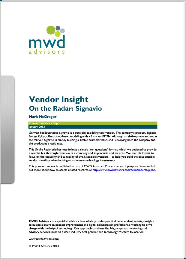 MWD Advisors Vendor Insight cover