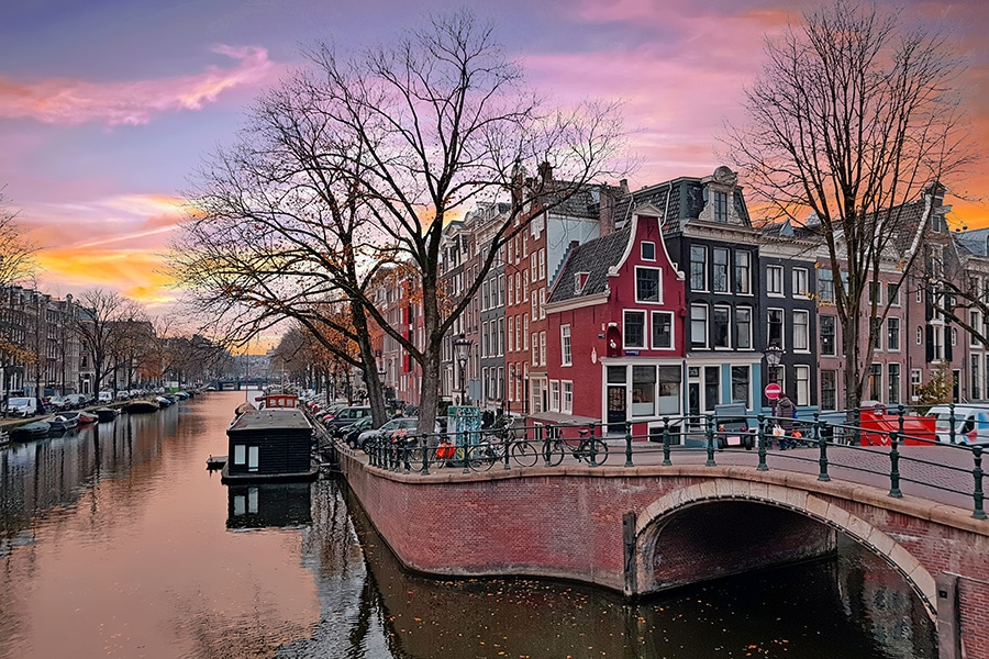 View of an Amsterdam canal