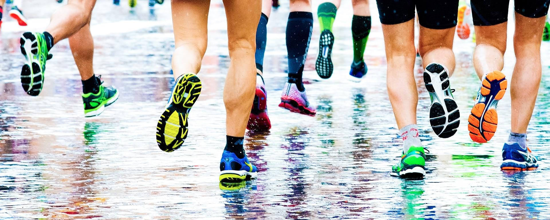 Process of Running - Image of feet running