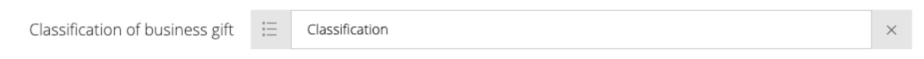 Configured input screenshot