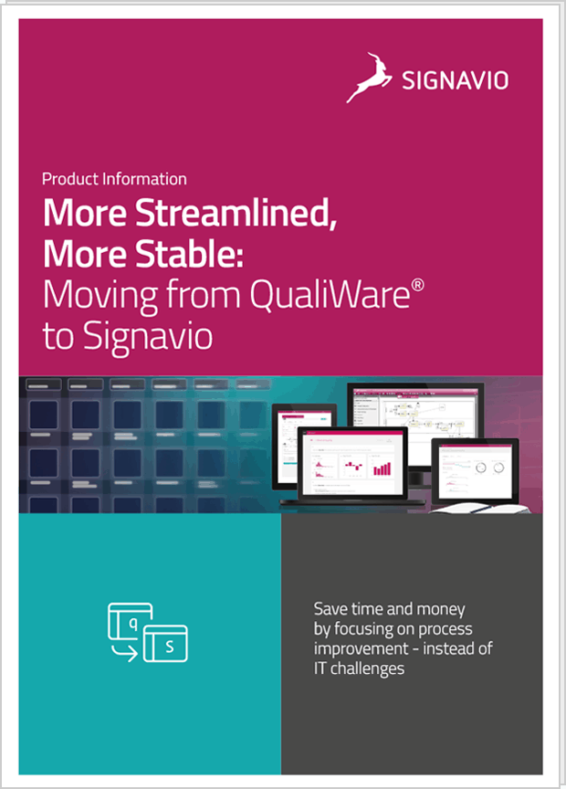front cover image Moving from QualiWare® to Signavio