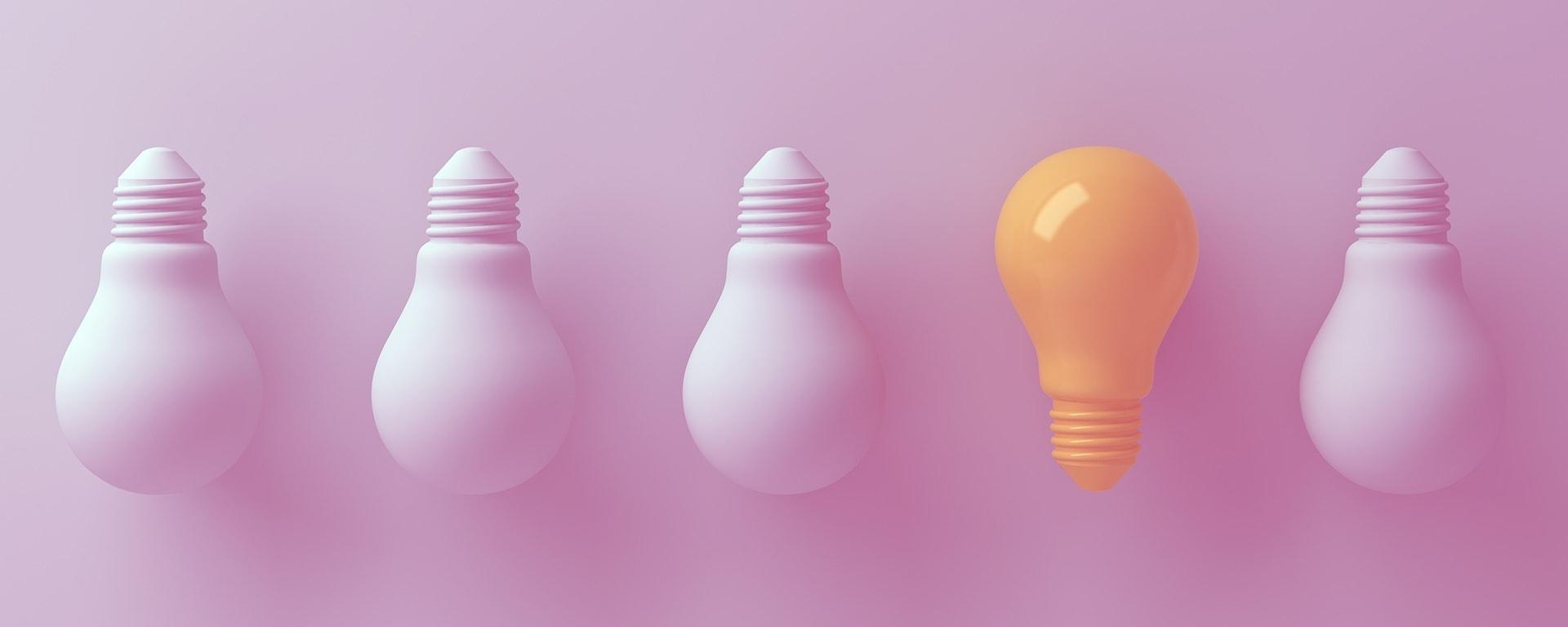 arguments contre une initiative processus -ampoule rose idée