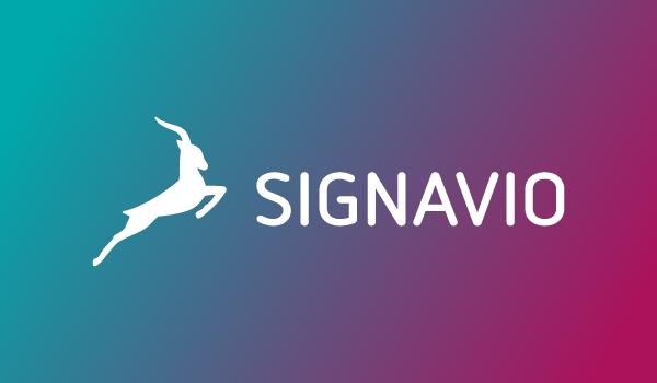 Signavio Logo on gradient rectangle