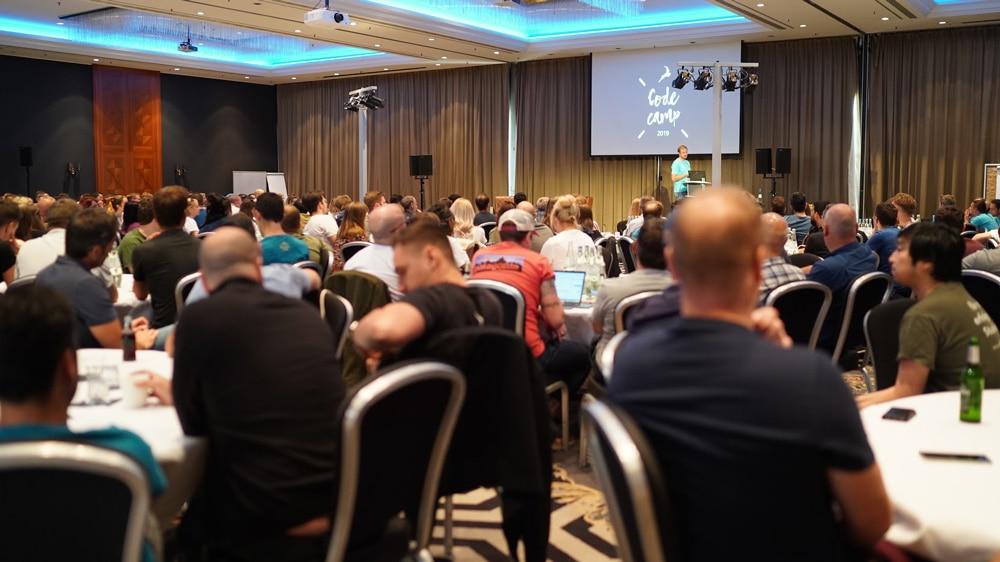 Code Camp 2019 - Gero Decker presenting