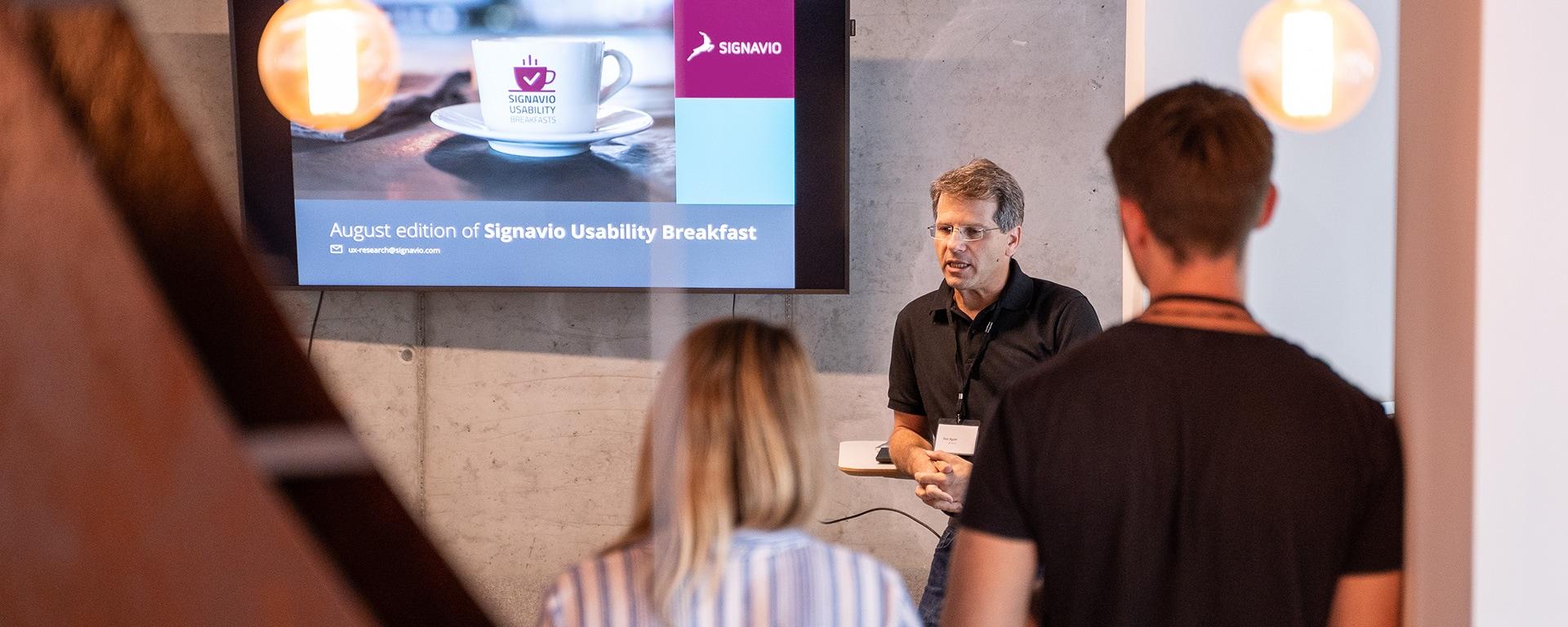 customer usability breakfast blog header image