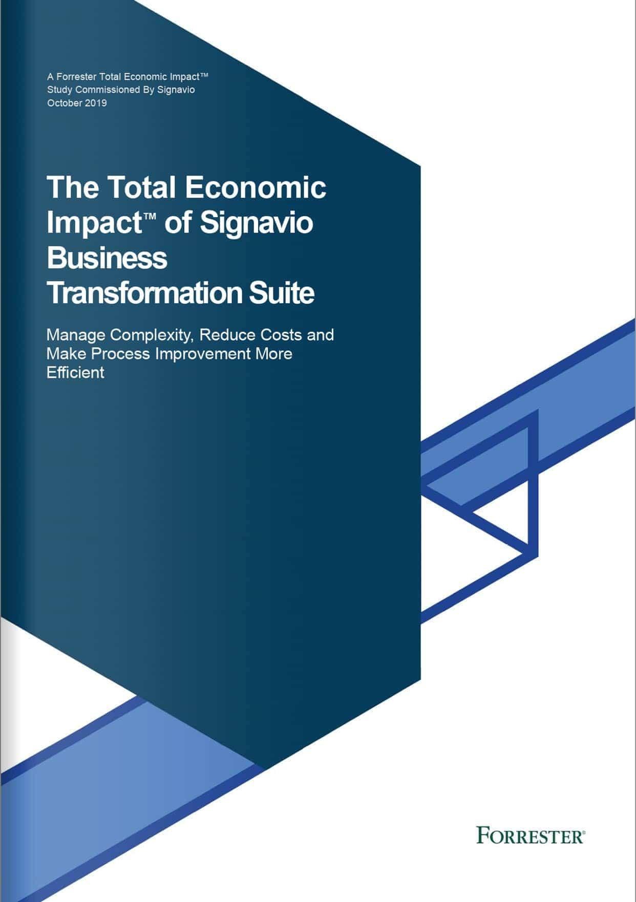 Forrester Studie: ROI der Signavio Business Transformation