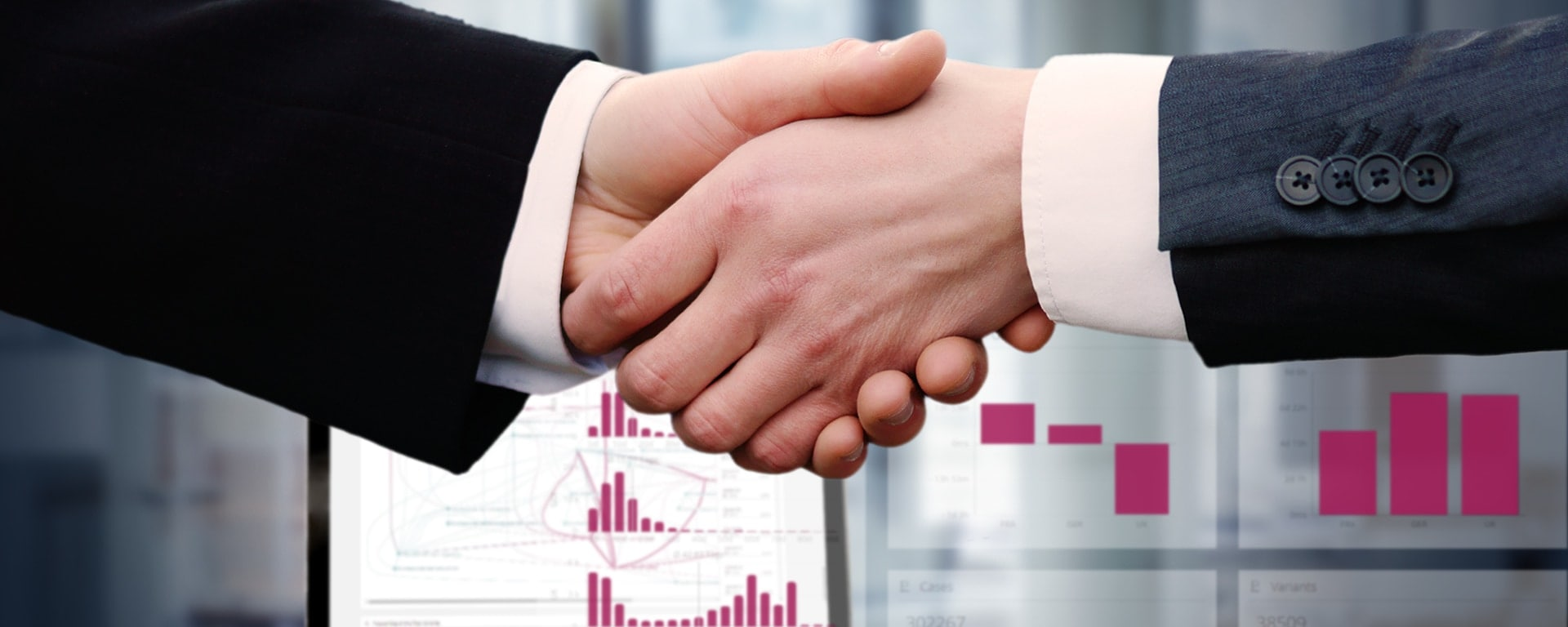 Process Governance & COE - two shaking hands