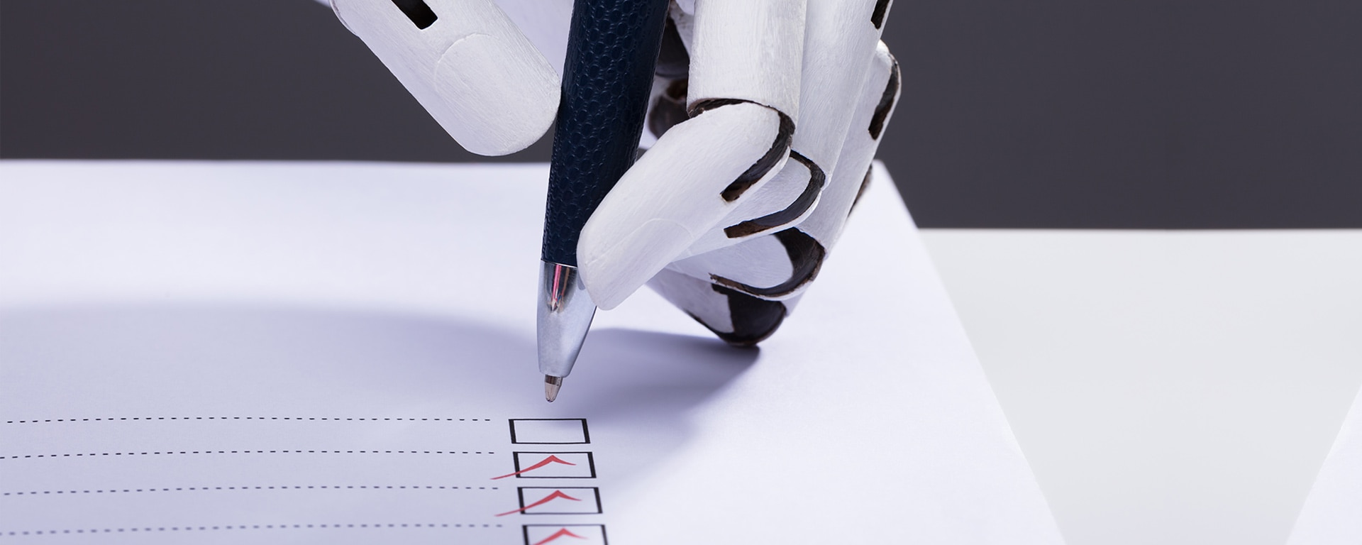 rpa implementation challenges blog image - robot ticking boxes
