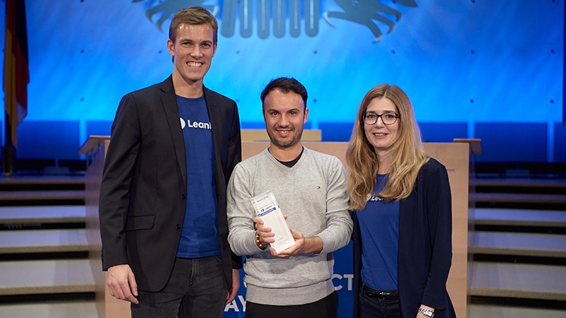 LeanIX CEO und Co-Founder André Christ; Daniel Marques Signavio, Katharina Bach LeanIX Strategic Alliance Manager