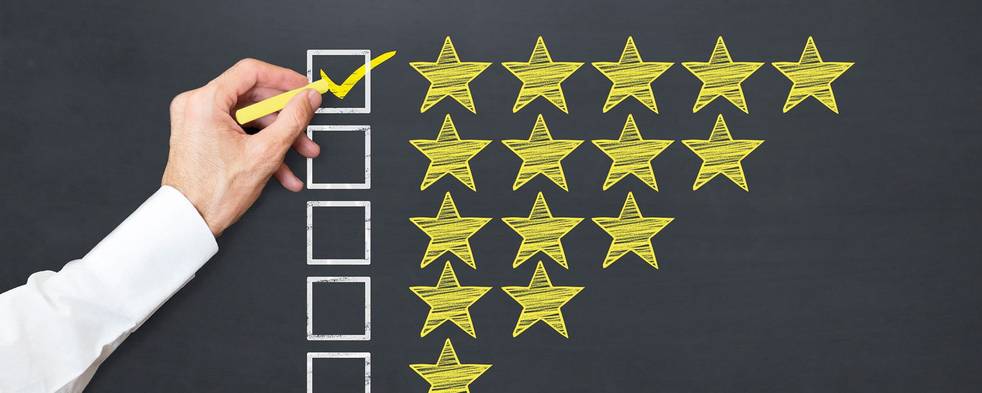 successful BPM implementation blog post - five stars image
