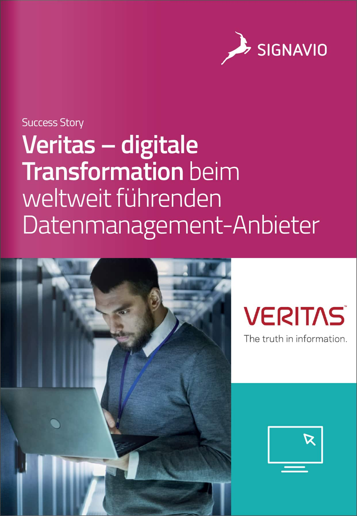 Titelbild der Success Story Veritas Deutsch