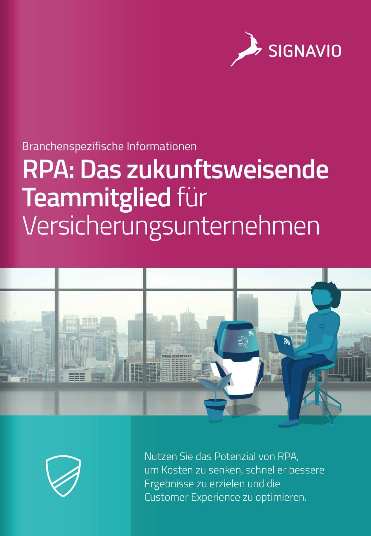 Branchenspezifische Informationen RPA: Das zukunftsweisende Teammitglied für Versicherungsunternehmen_Titelbild