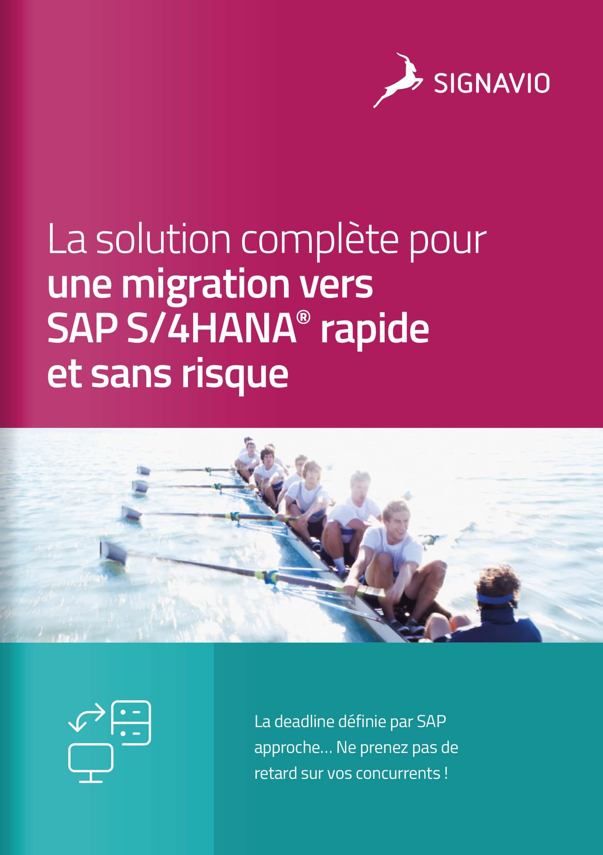 La solution complète pour une migration vers SAP S/4HANA® rapide et sans risque