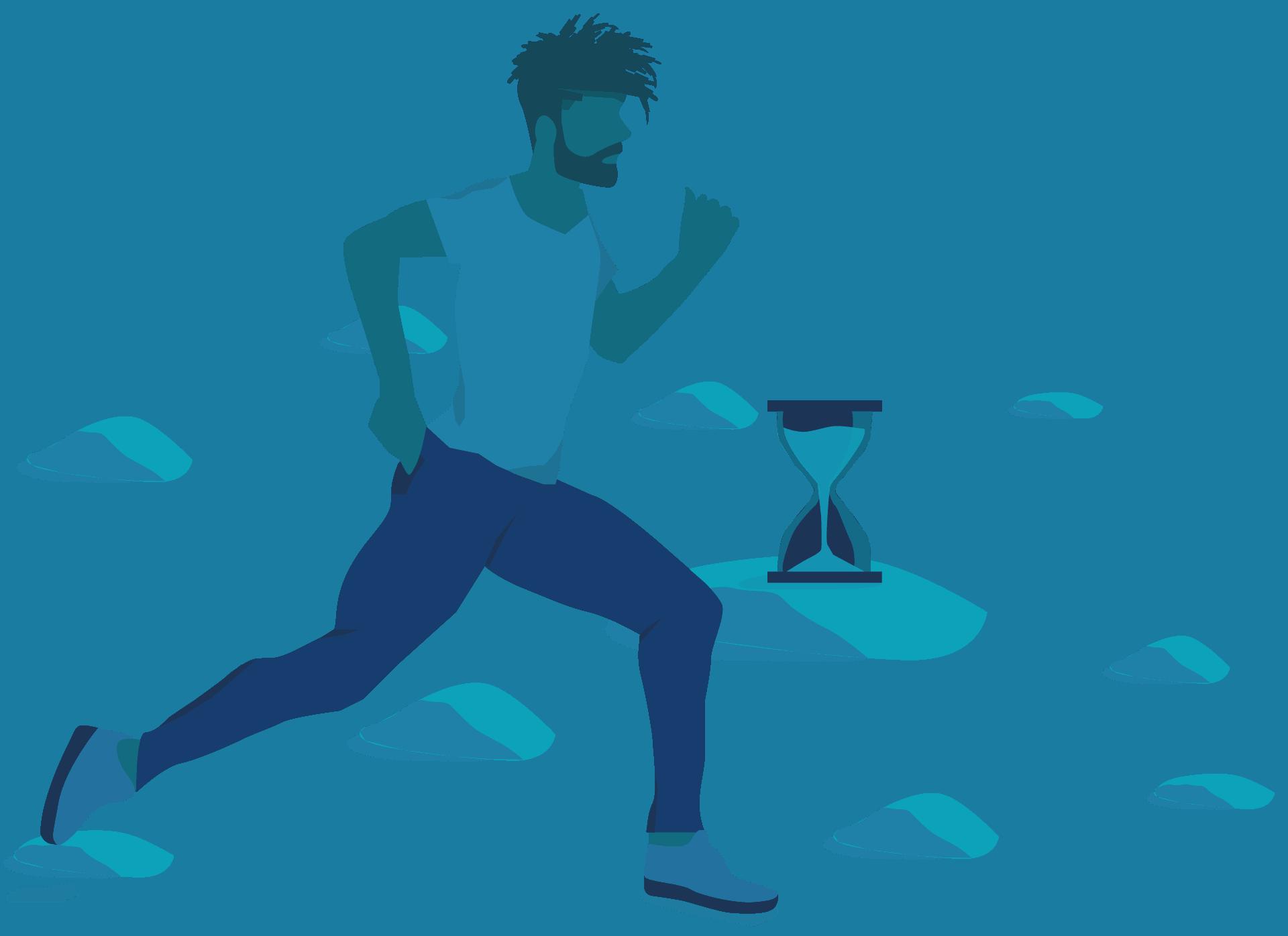 s4hana migration - runner and hourglass