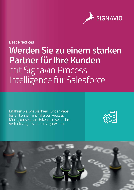 Signavio Process Intelligence für Salesforce für Ihre Kunden_Broschüre_Titelbild