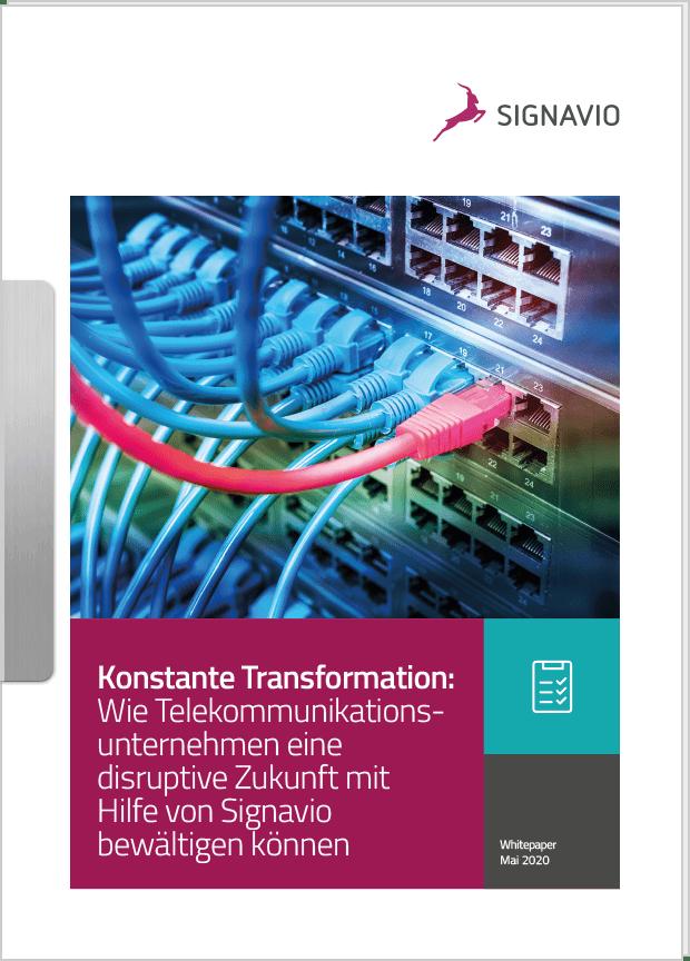 Konstante Transformation: Wie Telekommunikationsunternehmen eine disruptive Zukunft mit Hilfe von Signavio bewältigen können_Titelbild