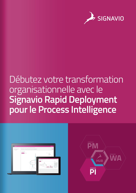 Signavio Rapid Deployment - Process Intelligence image de couverture