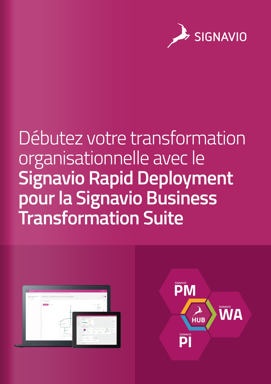 Signavio Rapid Deployment - Signavio Business Transformation Suite image de couverture