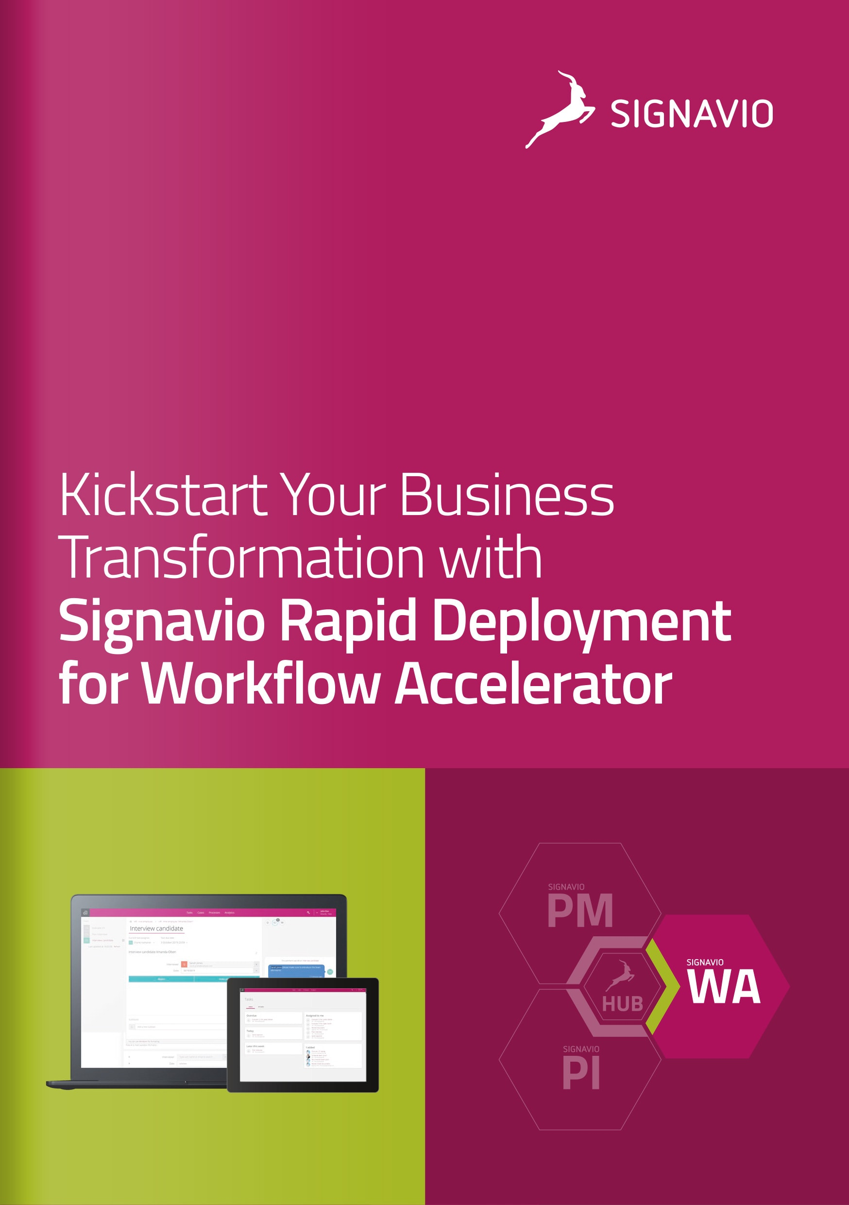 Signavio Rapid Deployment for Workflow Accelerator - Cover Image