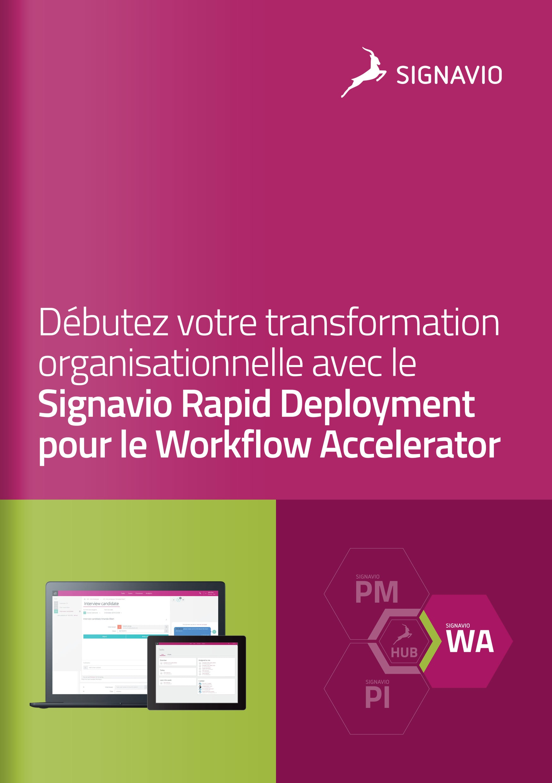 Signavio Rapid Deployment - Workflow Accelerator image de couverture