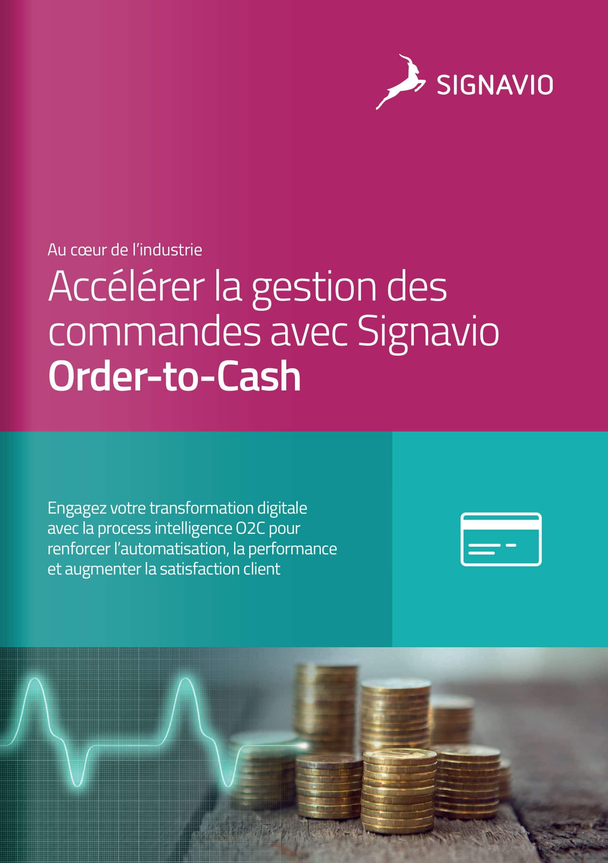 Accélérer la gestion des commandes avec Signavio Order-to-Cash couverture