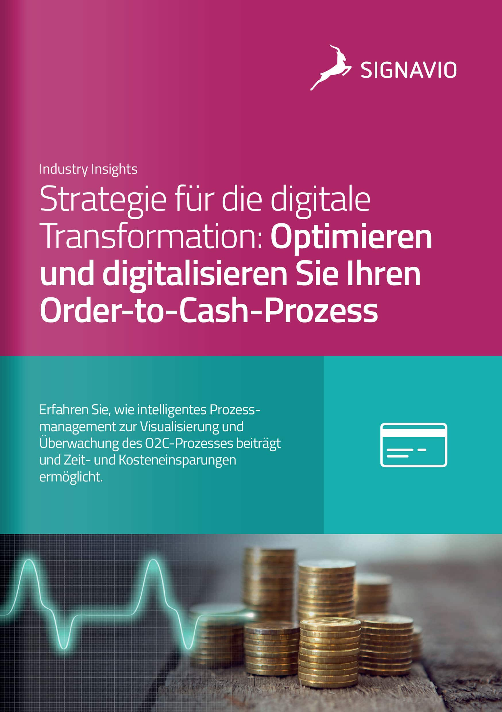 Signavio Broschüre_Order-to-Cash_Digitale Transformation_DE_Titelbild