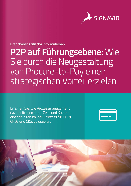 Signavio-Broschüre_P2P auf Führungsebene_Titelbild