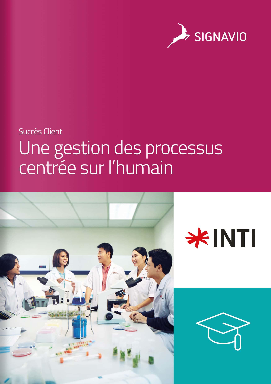 INTI : Une gestion des processus centrée sur l'humain étudiants image de couverture