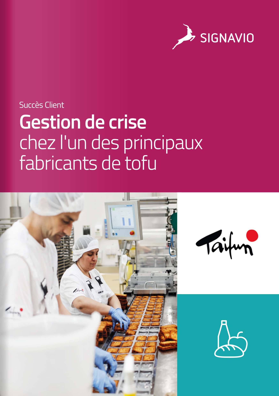 Taifun-Tofu : chez l'un des principaux fabricants de tofu employés usine image de couverture