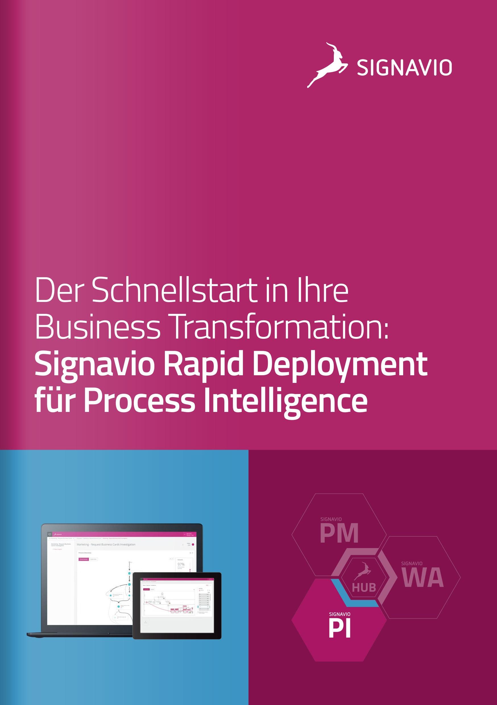 Rapid Deployment für Process Intelligence Preview